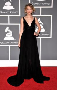 Taylor Swift at the 51st Annual Grammy Awards.