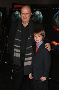 Director Alex Proyas and Chandler Canterbury at the premiere of