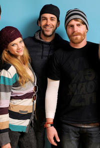 Rebekah Brandes, Vincent Grashaw and writer/director Evan Glodell at the portrait session of