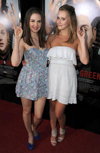 Allison Brie and Julianna Guill at the California premiere of