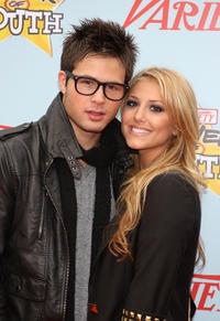 Cody Longo and Cassie Scerbo at the Variety's 3rd Annual Power of Youth Event in California.