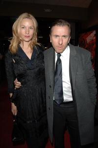 Nikki Bulter and Tim Roth at the premiere of
