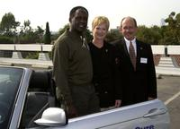 Richard Roundtree, Linda Kay Peterson and Jim Mc Dowell at the BMW Ultimate Drive for the Susan G. Komen Breast Cancer Foundation.