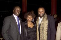Richard Roundtree, Maxine Brown and Chatman Roberts at the VIP reception for the Rhythm & Blues Foundation's 12th annual Pioneer Awards.
