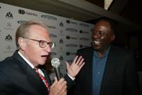 Richard Roundtreee and Larry King at the 18th Annual Cedars-Sinai Sports Spectacular.
