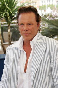Mickey Rourke at the photocall for promoting