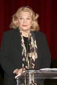 Gena Rowlands at the kick-off reception for Women In Film Foundation's