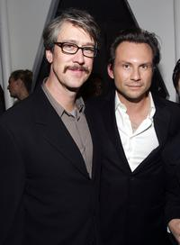 Alan Ruck and Christian Slater at the New York after party for the screening of