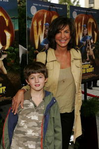 Mercedes Ruehl and her son Jake Geiser at the premiere of