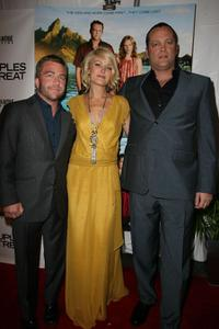 Vince Vaughn, Malin Akerman and Peter Billingsley at the Chicago premiere of