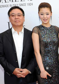 Andy Yan and Gianna Jun at the cocktail reception of