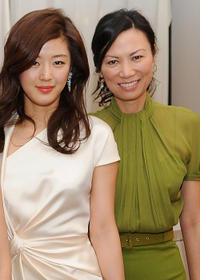 Gianna Jun and producer Wendi Deng Murdoch at the Luncheon of