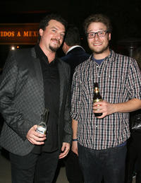 Danny R. McBride and Seth Rogen at the after party of the 2nd Season premiere of