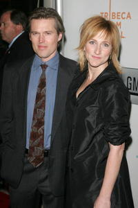 Bill Sage and Edie Falco at the opening night premiere of