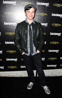 Chris Colfer at the 17th Annual Pre-Screen Actors Guild Awards party in California.