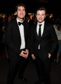 Deputy Photo Editor of Time, Paul Moakley and Chris Colfer at the Cocktail party of TIME 100 Gala, TIME'S 100 Most Influential People In The World.