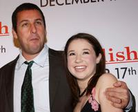 Adam Sandler and Sarah Steele at the Los Angeles premiere of