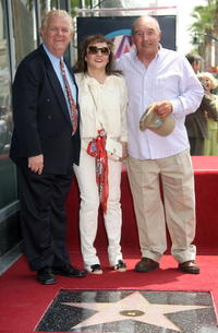 Johnny Whittaker, Victoria Keith and Joe Santos at the Hollywood Walk of Fame.