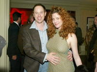 Raphael Sbarge and his wife Lisa Akey at the LA.COM's launch party.