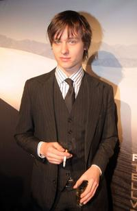 Tom Schilling at the opening of the new Porsche Design Store.