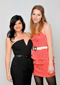 Lynn A. Freedman and Courtney Halverson at the portrait session of