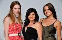 Courtney Halverson, Lynn A. Freedman and Jessie Ward at the portrait session of