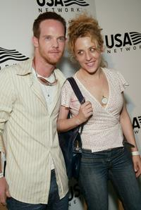 Jason Gray-Standford and Bitty Schram at the USA Network's opening night party of 2003 U.S. Open.