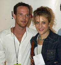 Jason Gray-Standford and Bitty Schram at the USA Network's celebration of the opening of 2002 US Open.