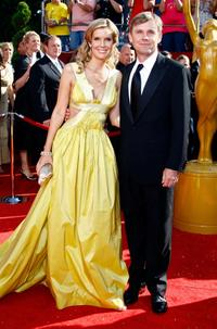 Andrea Bernard and Rick Schroder at the 60th Primetime Emmy Awards.