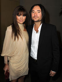 Alice Parkinson and Dimitri Poulos at the California premiere of