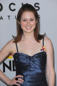Ellie Kemper at the after party of NBC, Universal Pictures And Focus Features Golden Globes.