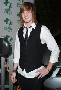 Eddie Hassell at the Global Green USA's 8th Annual pre-Oscar party in California.
