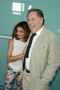 George Segal and Laura San Giacomo at the premiere of