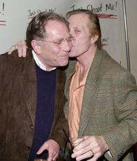 George Segal and David Carradine at the party celebrating the 100th episode of the television show