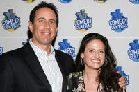 Jerry Seinfeld and Melanie Roy-Friedman at the Comedy Central special screening of