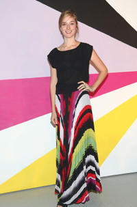Caitlin Fitzgerald at the Alice and Olivia Fall 2012 Presentation during the Mercedes-Benz Fashion Week.
