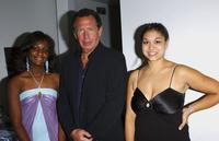Producer Natasha Turner, Garry Shandling and Producer Julia Zolinsky at the reception of Edgemar Center For The Arts Annual Fundraiser.