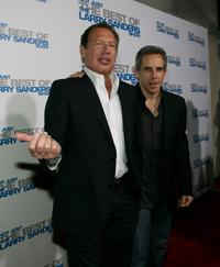 Garry Shandling and Ben Stiller at the wrap party and DVD release of