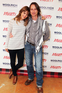 Alexia Rasmussen and Robert Carlyle at the portrait session of