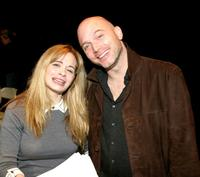 Adrienne Shelly and Michael Cerveris pose for a picture after a reading of
