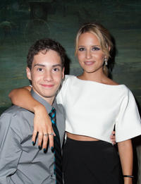 John D'Leo and Dianna Agron at the World premiere of