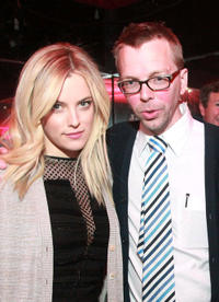 Riley Keough and director Bradley Rust Gray at the after party for
