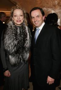 Caroline Sihol and Stanislas De Quercize at the inauguration of the renovated Van Cleef And Arpels Salon.