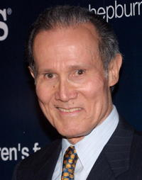 Henry Silva at the Audrey Hepburn Children's Fund exhibit to benefit the Audrey Hepburn Children's Fund and Children Hospital Los Angeles.