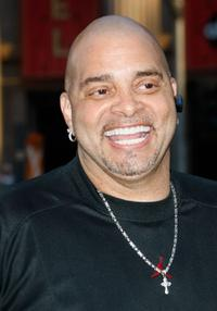 Sinbad at the premiere of