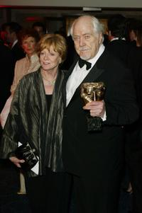 Maggie Smith and Robert Altman at the 2002 Bafta Party in London.