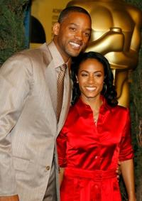 Will Smith and Jada Pinkett Smith at the 79th annual Academy Award nominees luncheon.