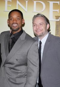 Will Smith and Francis Lawrence at the Paris premiere of