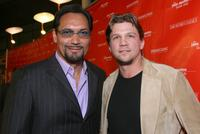 Jimmy Smits and Marc Blucas at the premiere of