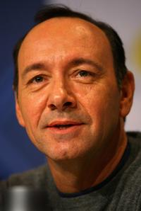 Kevin Spacey at a press conference of Nobel Peace Prize Concert.